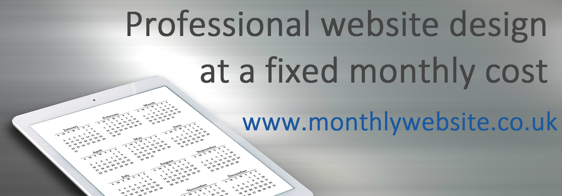 monthly website design